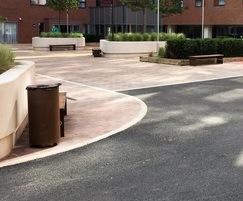 Bespoke corten steel street furniture - Baltic Triangle
