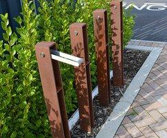 Guardia Cycle Stands, corten steel