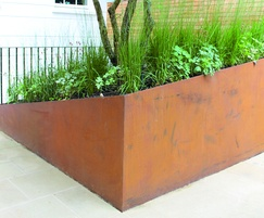 Corten steel edging produced to client specification