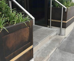 Outdoor Design's patinated bronze planters