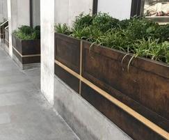 9 bespoke bronze planters - Jermyn Street, London