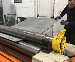 Handcrafted steel for garden structure