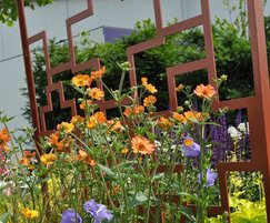 Laser-cut trellis panel for RHS winning garden