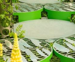 Lasercut metalwork for Seadlip Garden, RHS Chelsea