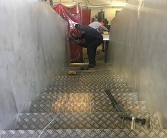 Installing sectional staircase