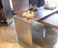 Aluminium display unit - polished and vibro-sanded