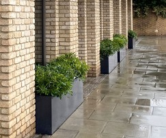 Planters for exterior of restaurant in Hammersmith