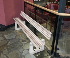 Bench - Ash timber with stainless steel components