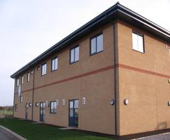 Modular soffit system - St John House, Bridgwater
