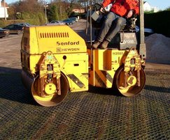 CellPave® AP being installed with vibratory roller