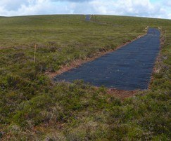Moorland Mesh is quick to install with no soil digging