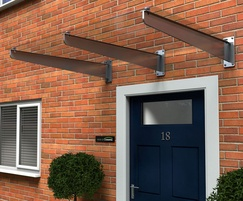 Type g glass door canopy house of canopies esi building design type g door canopy glass with steel brackets planetlyrics Image collections