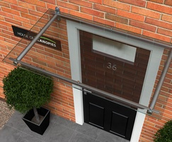 ... Type B polycarbonate door canopy & Type B polycarbonate door canopy | House of Canopies | ESI Building ...