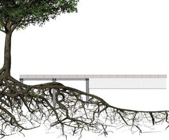 Pedestrian tree root bridge to protect RPZ, 3.5kN load