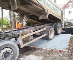 Tree root bridge for driveway RPA