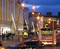 Sara and Latina streetlamps, Cork