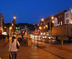 Street lights, cycle racks and railings installed, Cork