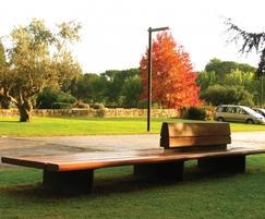Santa & Cole wide-seated Comunitario bench