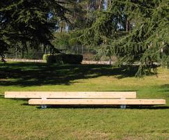 Large 5.4m bench for recreational use