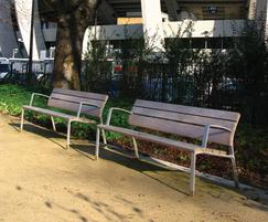 Highly functional urban element to sit or lean on