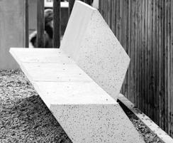 Architectural concrete bench available in three colours