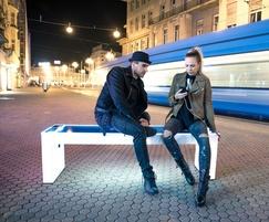 Steora Smart 100% solar-powered bench