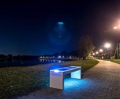 Illuminated bench