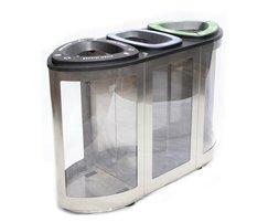 ermuda Vista Triple Interior Waste Bin By FinBin