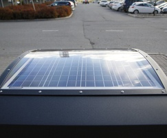 Solar panel on City Solar Smart litter bin by FinBin