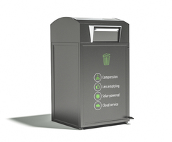 City Solar smart compacting litter bin by FinBin