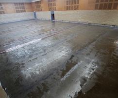 Installation of sports floor