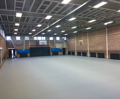 Preparation for sports hall floor refurbishment