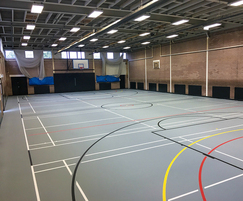 Refurbished sports hall floor