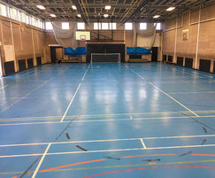Sports hall floor before refurbishment