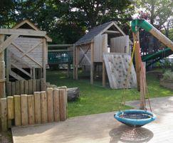 Outdoor play area by Timotay Playscapes