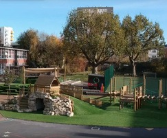 Climbing frames, roleplay areas, steps, seating