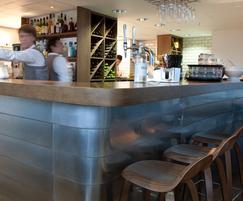 Fumed oak and dull zinc bar for The Ashmolean