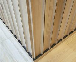 Bespoke fluted oak panelling