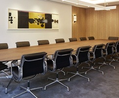 European walnut panelling and table for the Board Room