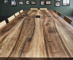 Character walnut conference table