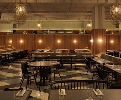 Furniture for restaurant at Ace Hotel in London