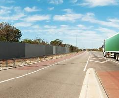 3.3m high GuardianWall - noise abatement along motorway