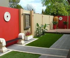 SlimFence™ residential colourful modular wall