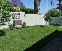 EliteWall Premium fence on sloping ground