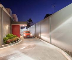 MWS modular wall - KFC drive-thru