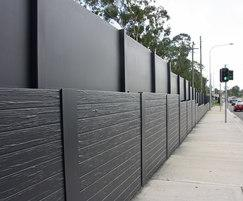Acoustic wall fence for busy road upgrade
