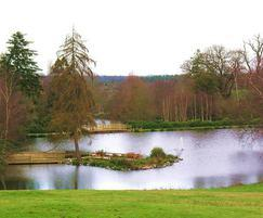 Lake restoration, Heckfield Place, Hampshire