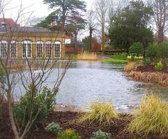 Lake with water features for private client