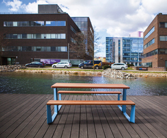 Rautster picnic table is great for outdoor refreshments