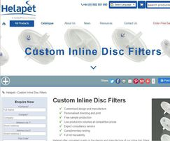 Helapet inline disc filter customisation service online